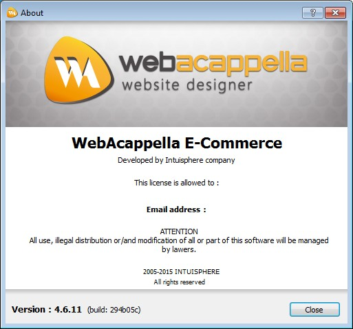 Intuisphere WebAcappella E-Commerce 4.6.11