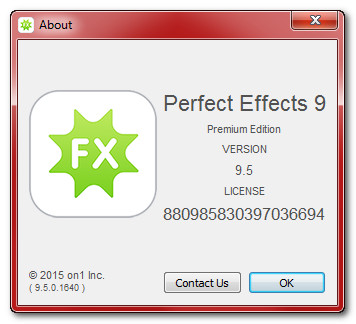 OnOne Perfect Effects 9.5.0.1640 Premium Edition