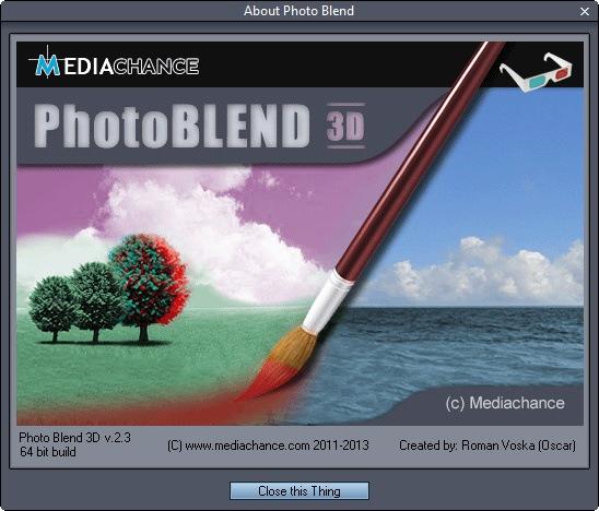 Photo Blend 3D 2.3