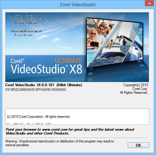Corel VideoStudio X8 18.0.0.181 Pro