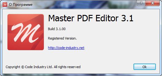 Master PDF Editor 3.1.00