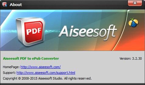 Aiseesoft PDF to ePub Converter 3.2.30