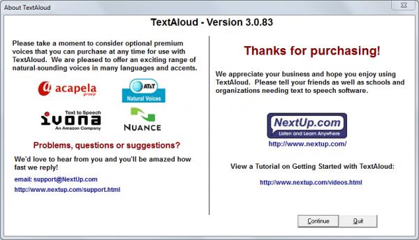Nextup TextAloud 3.0.83