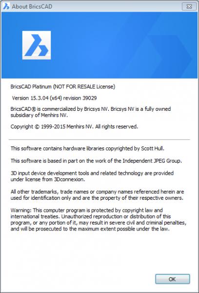 BricsCAD Platinum 15.3.04