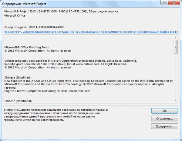 Microsoft Project Professional 2013 15.0.4753.1000 SP1