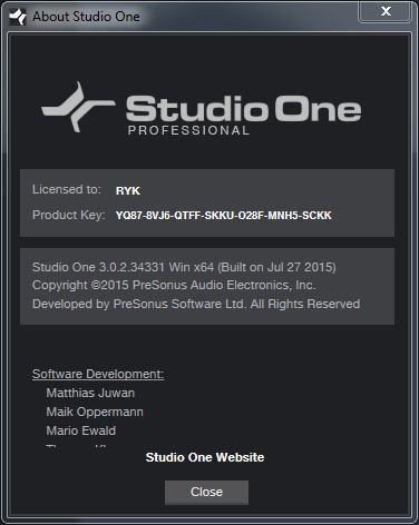 PreSonus Studio One Pro 3.1.0.35191