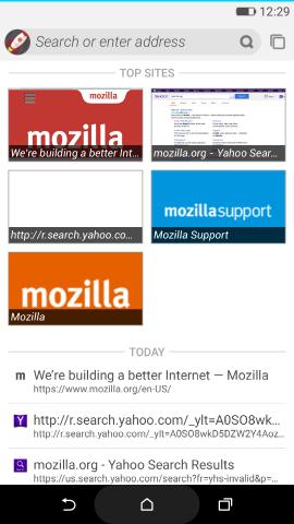 Firefox OS 2.5 - возможность испытать на Android-смартфоне