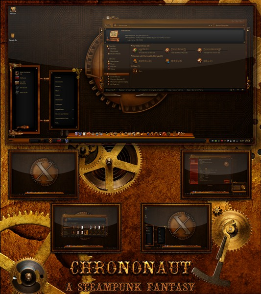 Тема для WIndows 7 - Chrononaut: A Steampunk Fantasy