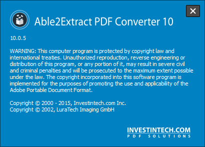 Able2Extract PDF Converter 10.0.5.0