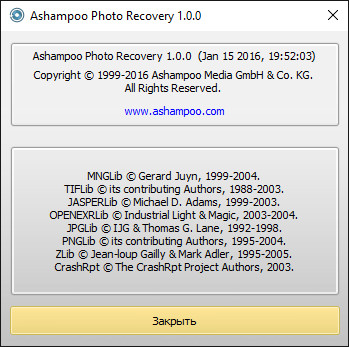 Ashampoo Photo Recovery 1.0.0