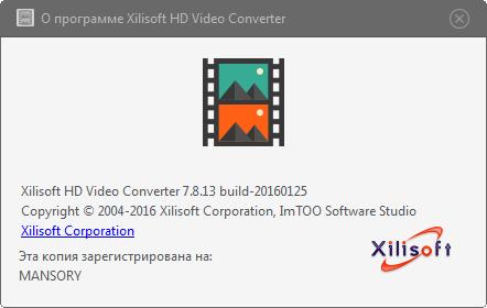 Xilisoft HD Video Converter 7.8.13 + Rus