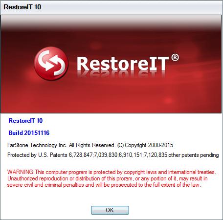 FarStone RestoreIT 10 Build 4.1.100.1332