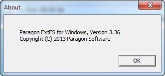 Paragon ExtFS for Windows 3.36