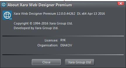 Xara Web Designer Premium 12.0.0.44262