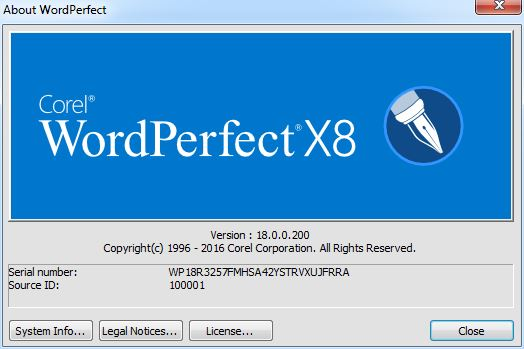 Corel WordPerfect Office X8 Standard | Professional Edition 18.0.0.200