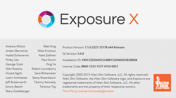 Alien Skin Exposure X 1.1.0.2223 Revision 33178