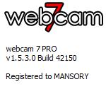 Webcam 7 PRO 1.5.3.0 Build 42150