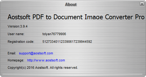 Aostsoft PDF to Document Image Converter Pro 3.9.4