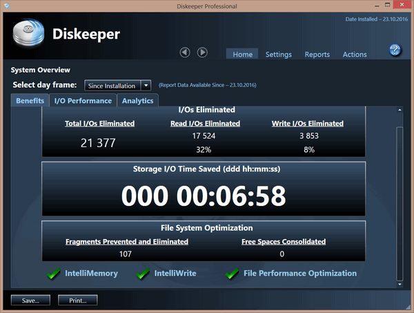 Diskeeper 2016 Pro 19.0.1212.0