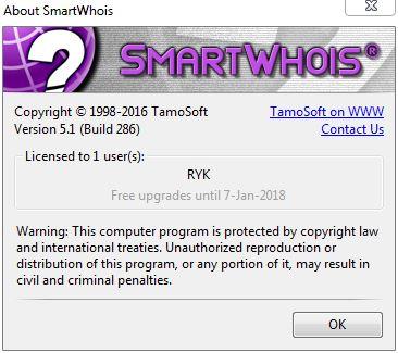 SmartWhois 5.1 Build 286