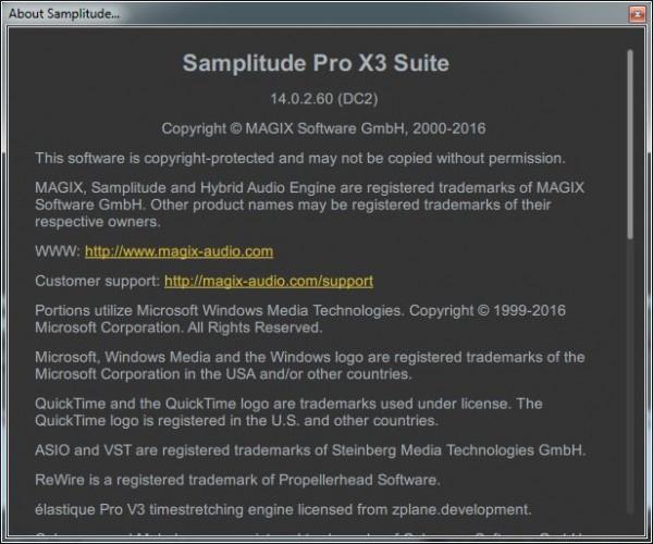 MAGIX Samplitude Pro X3 Suite 14.0.2.60