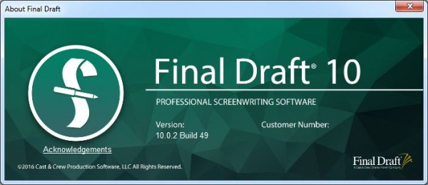 Final Draft 10.0.2 Build 49