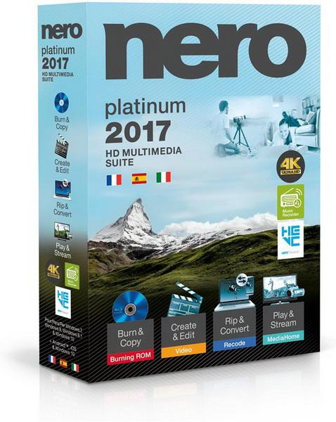 Nero 2017 Platinum 18.0.08500 + Content Pack
