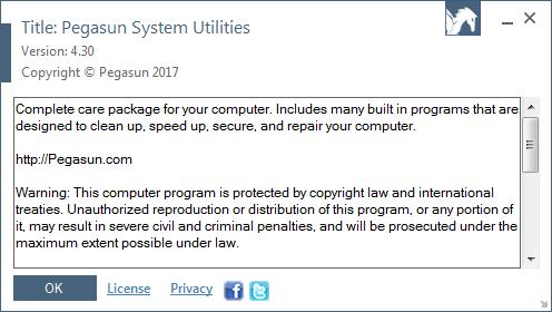 Pegasun System Utilities 4.30