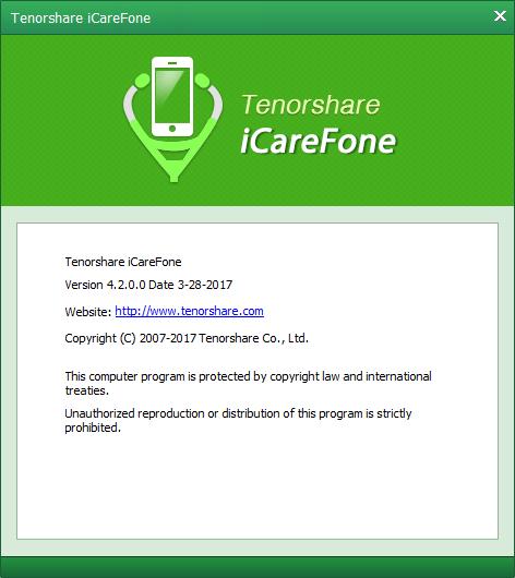Tenorshare iCareFone 4.2.0.0