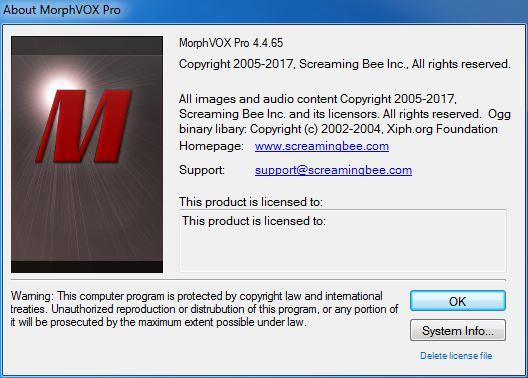 Screaming Bee MorphVOX Pro 4.4.65 Full Pack