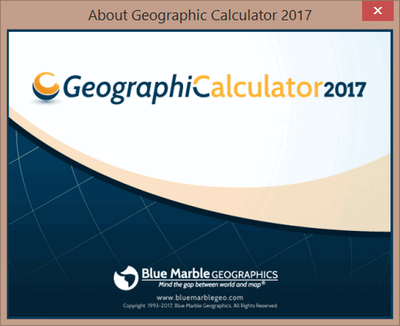 Blue Marble Geographic Calculator 2017 Build 180417