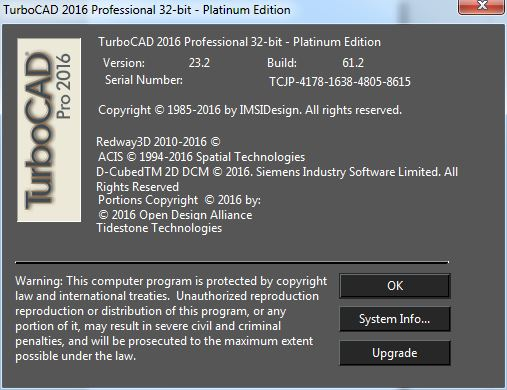 TurboCAD Professional Platinum 2016 23.2.61.2