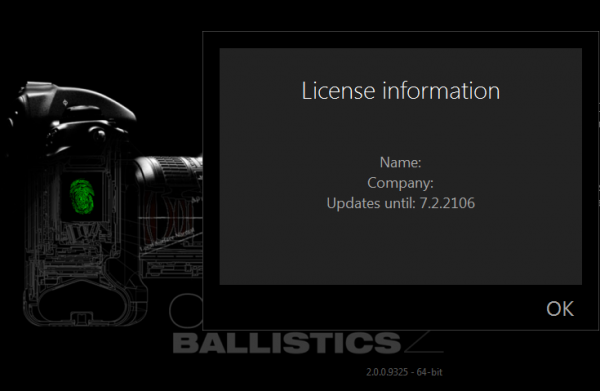 Camera Ballistics 2.0.0.9325