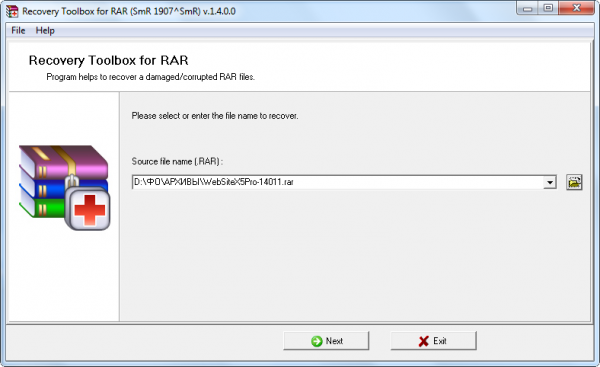 Recovery Toolbox for RAR 1.4.0.0