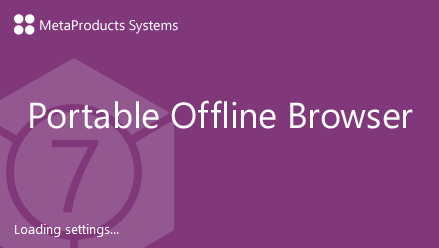 MetaProducts Portable Offline Browser 7.6.4630