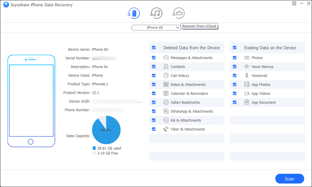 iOS Data Recovery for Windows