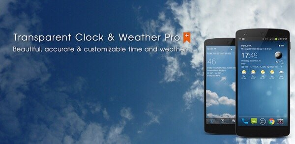 Transparent clock & weather Pro 5.0.6