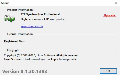 FTP Synchronizer Professional 8.1.30.1393